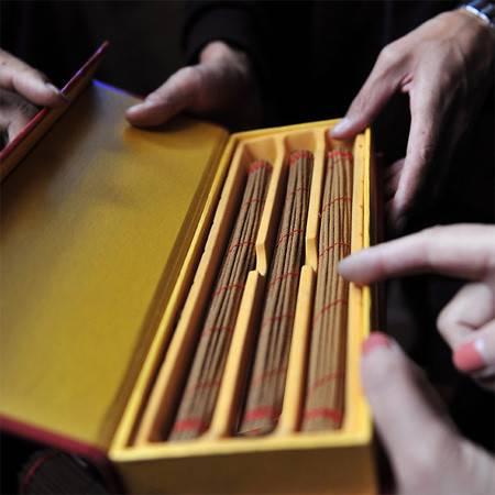 西藏特产  日喀则康马预防疾病及袪邪藏香  两盒装