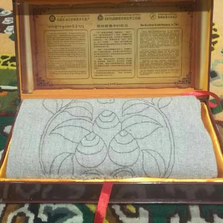 西藏特产  山南乃东泽贴尔羊毛印花围巾