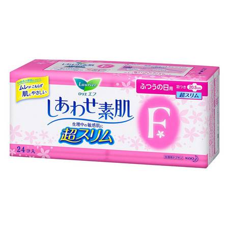【瞬吸舒适】日本花王LAURIER超薄透气F系列卫生巾 日用20.5cm*24片