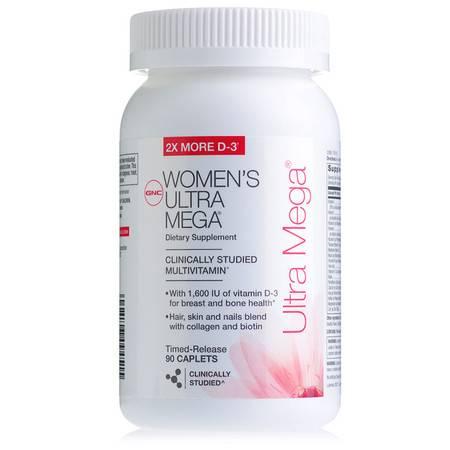 美国健安喜GNC女性维生素矿物质缓释片90粒