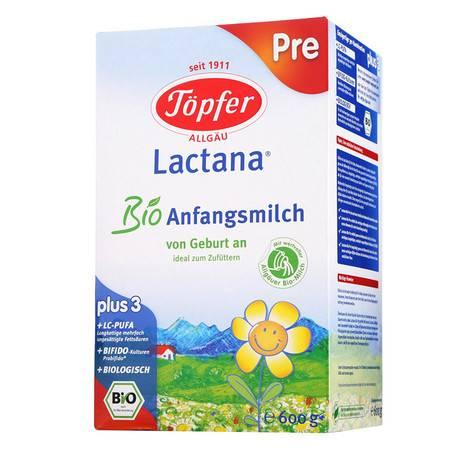 德国特福芬Topfer有机奶粉 pre段(0-6个月)600g