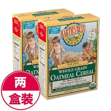 美国世界最好Earth's Best高铁婴儿有机燕麦米粉2段(6个月以上)227g*2