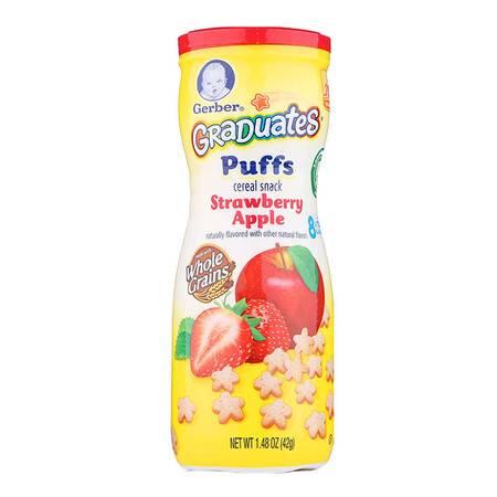 美国嘉宝Gerber草莓苹果星星泡芙(8个月以上)42g