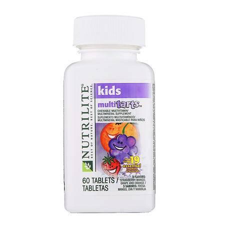 【13种维生素 零蔗糖】美国安利纽崔莱Amway儿童多种维生素营养咀嚼片(2岁以上)60片保税区发货