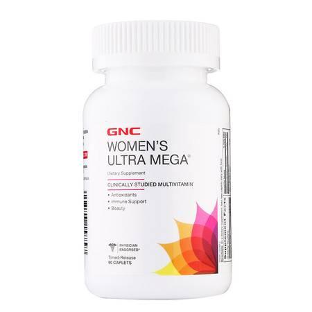 【为你的美丽加分】美国健安喜GNC女性维生素矿物质缓释片90粒