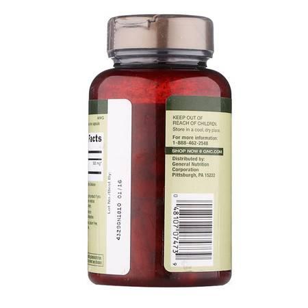 美国健安喜GNC草本葡萄籽精华(美白抗氧化)100毫克100粒(海外版)