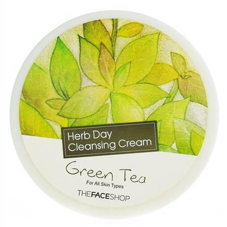 【轻松卸妆 温和滋润】菲诗小铺The Face Shop绿茶清洁霜 150ml