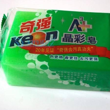 奇强晶彩皂包邮洗衣皂肥皂 218g