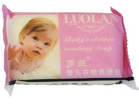 满百包邮 罗兰 婴儿衣物洗涤香皂100g 杀菌无刺激 宝宝洗衣肥皂