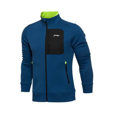 包邮 李宁 2016新款男装训练系列 罗纹收口开衫运动卫衣AWDL155