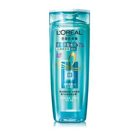 欧莱雅 洗发水透明质酸水润去屑洗发露倍爽200ml  无硅油 控油止痒