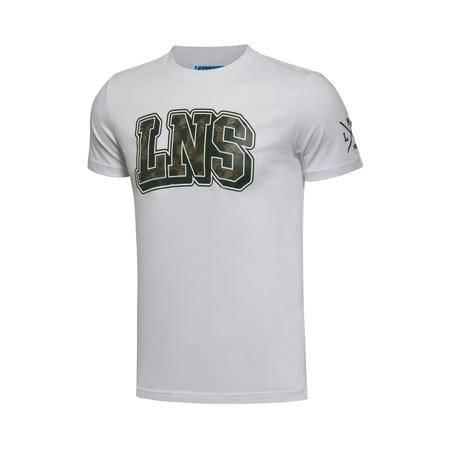 包邮 李宁2016新款男装运动生活系列纯棉收口短袖T恤AHSL019