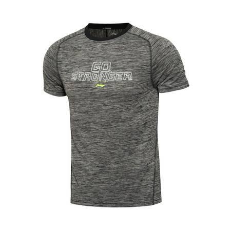 包邮 李宁2016新款男装训练系列速干修身型短袖运动T恤ATSL079