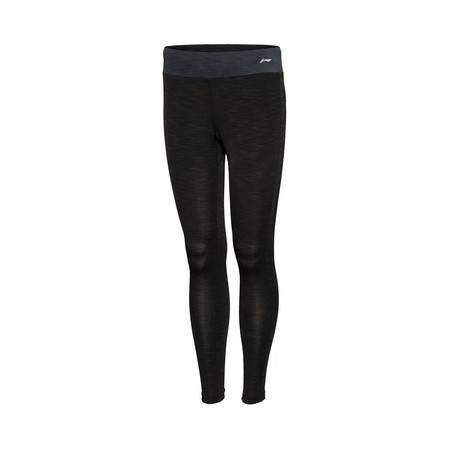 包邮 李宁2016新款女装跑步系列速干平口训练紧身运动长裤AULL028