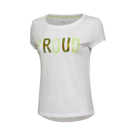 包邮  李宁2016新款女装运动生活系列纯棉短袖运动T恤GTSL006