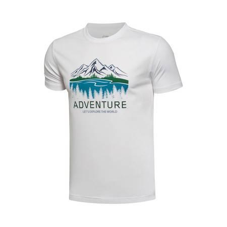 包邮 李宁2016新款男装户外系列短袖运动T恤ATSL123