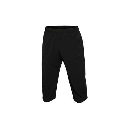 包邮  李宁2016新款男装训练系列速干平口运动裤七分裤AKQL027