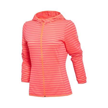 包邮 李宁 2016新款夏季女装跑步系列速干修身开衫连帽运动卫衣AWDL158