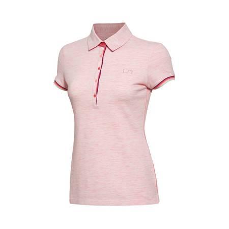 包邮 李宁 2016新款女装运动生活系列修身型短袖POLO衫运动服GPLL008
