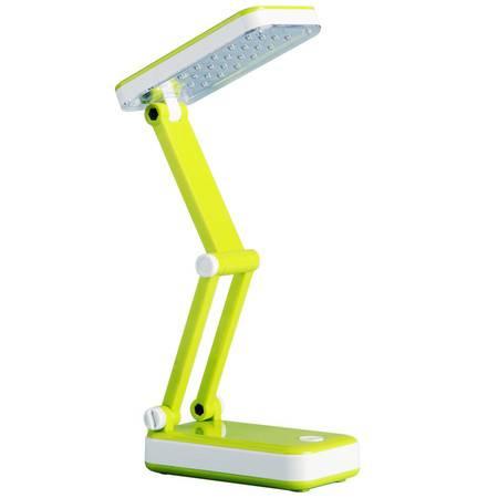 包邮得力3676、3670台灯 LED节能护眼折叠式台灯 学生阅读学习 可充电多灯头 颜色随机发