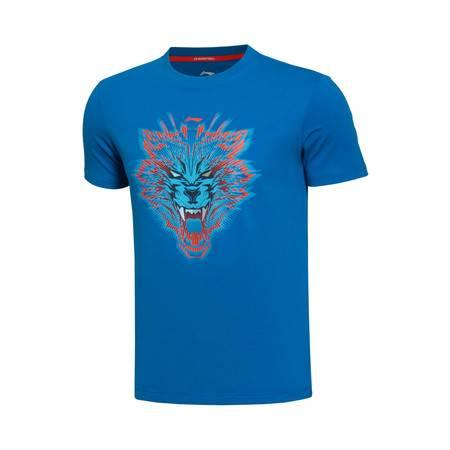 包邮  李宁 2016新款男装篮球系列短袖T恤运动服AHSL147
