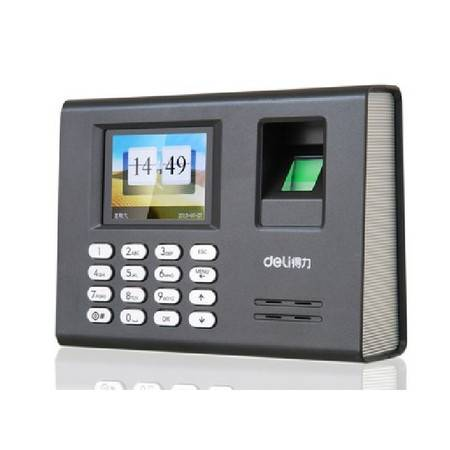 包邮 得力3946指纹考勤机彩屏语音指纹容量1800 360度指纹识别