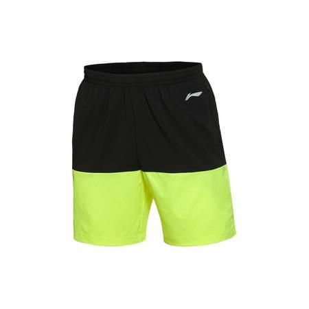 包邮 李宁 2016新款男装跑步系列速干平口运动短裤AKSL033