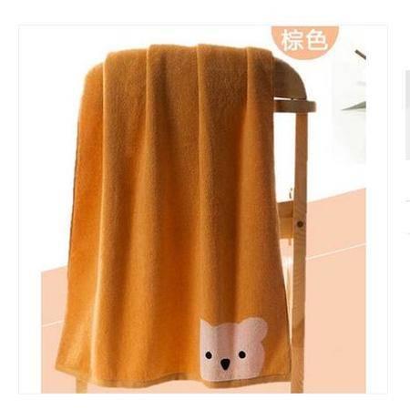 金号S1130WH毛巾可爱卡通小熊纯色双面无捻纱柔软纯棉情侣面巾S1130WH  一条装