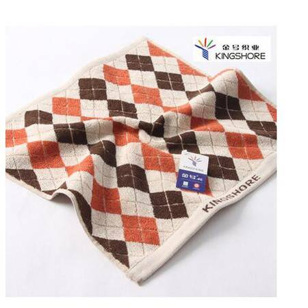金号G6354毛巾 纯棉小毛巾/方巾提花 加厚大气英伦方格 情侣款式