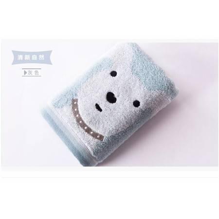 金号毛巾G1850WH 纯棉持久柔软加厚毛巾 无捻纱速吸水卡通面巾一条装