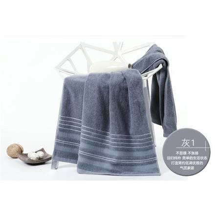 包邮 金号GA3108纯棉加厚大浴巾 素色提缎全棉浴巾 柔软吸水 简约优雅大气  一条装