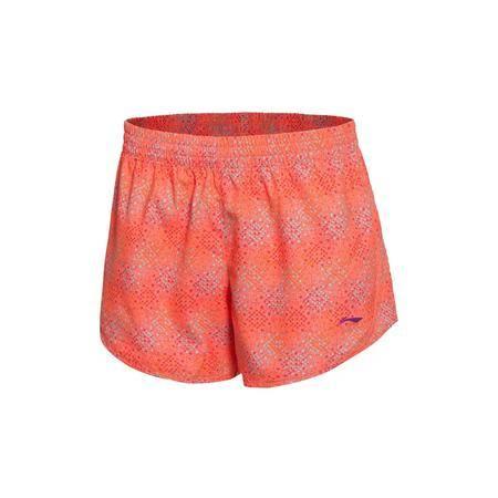 包邮 李宁2016新款女子夏季速干平口训练短裤运动裤女运动服AKSL198