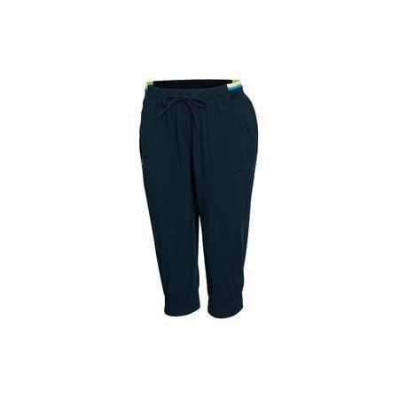 包邮 李宁2016新款女子宽松型训练七分裤运动裤女运动服AKQL126