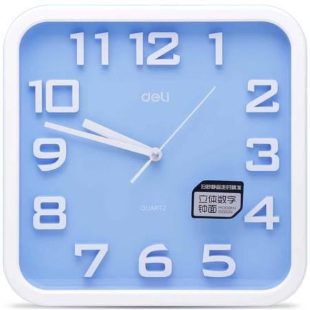 包邮 得力8949 时尚挂钟客厅办公静音时钟挂表简约创意石英钟表
