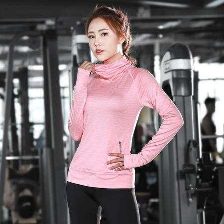 包邮  韵格C04 瑜伽服女运动速干弹力紧身健身服女长袖运动T恤