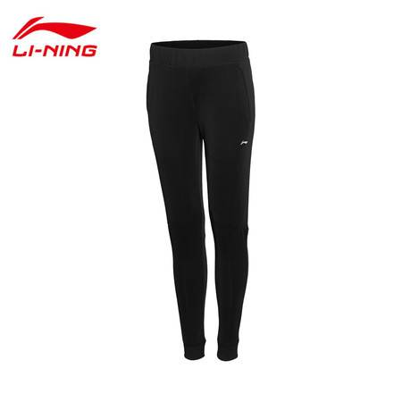 包邮 李宁2016新款女子跑步针织运动裤修身型平口女运动服AKYL004