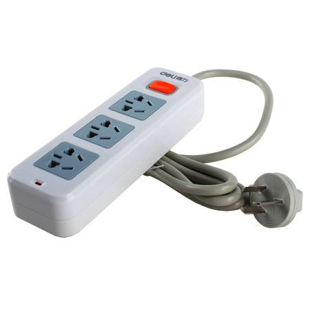 包邮 得力3793 电源插座1.8m三孔接线板插排插线板电源转换器 插座 得力/DELI