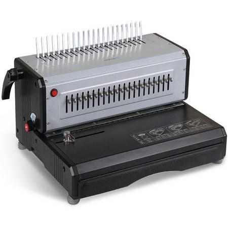 包邮 得力3883电动胶圈装订机 夹条压条装订机 电动梳式装订机可调边距