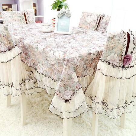包邮左岸春天 暗香园茶 布艺 蕾丝中式椅套 坐垫加靠背 (二)