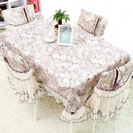 包邮 左岸春天暗香园茶色 110cm*110茶几桌布布艺长方形蕾丝 家用桌布(一)