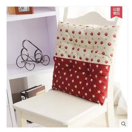 包邮左岸春天海星草莓红43*43cm棉麻办公室坐垫座椅垫椅子座垫夏季薄款凳子宿舍坐垫椅垫学生板凳