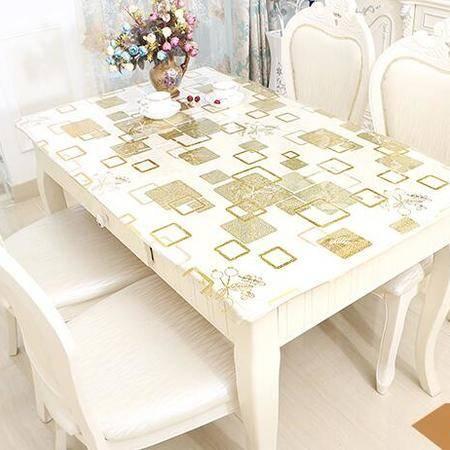 包邮左岸春天0.7mmPVC长方形餐桌布正方形塑料垫印花桌垫茶几防水防油防烫免洗 90*160cm