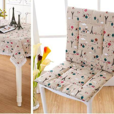 包邮左岸春天苹果铁塔40*40cm日式清新坐垫椅垫 棉麻(二)