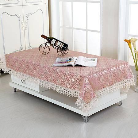 包邮左岸春天如意紫140*140/130*180cm长方形蕾丝茶几桌布客厅现代简约茶几套罩布艺欧式