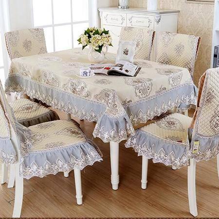 包邮左岸春天芈月传奇蓝130*180cm欧式餐桌布艺长方形棉麻桌布布艺现代简约(一)