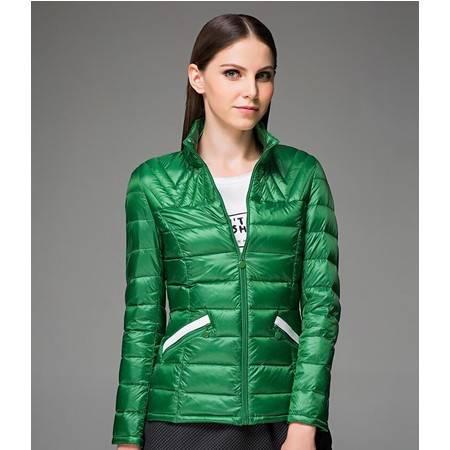 包邮大羽轻薄羽绒服女短款立领女式修身羽绒衣冬装外套女装韩版09760