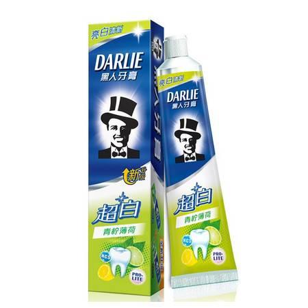 黑人牙膏超白青柠薄荷140g成人美白护牙龈天然