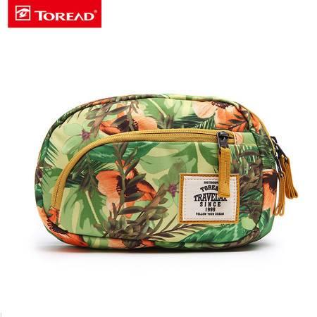 探路者2016春夏新款户外男女时尚印花通用腰包TEBD90721