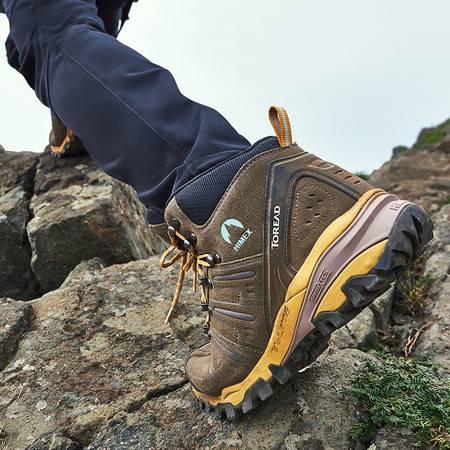 探路者/TOREAD 新款户外男式防滑耐磨登山鞋HFBE91012