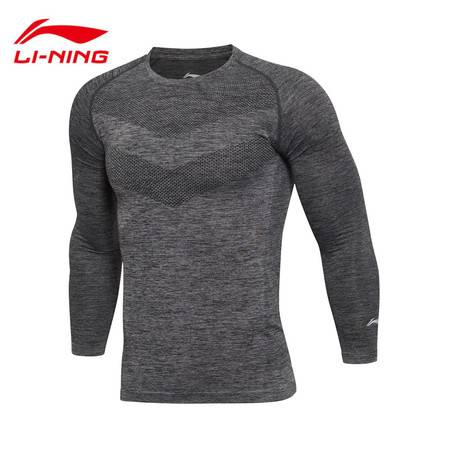 包邮 李宁/LI NING 2016新款男子训练长袖T恤修身型男运动服ATLL099